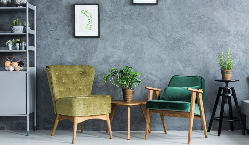 furniture colored moss green